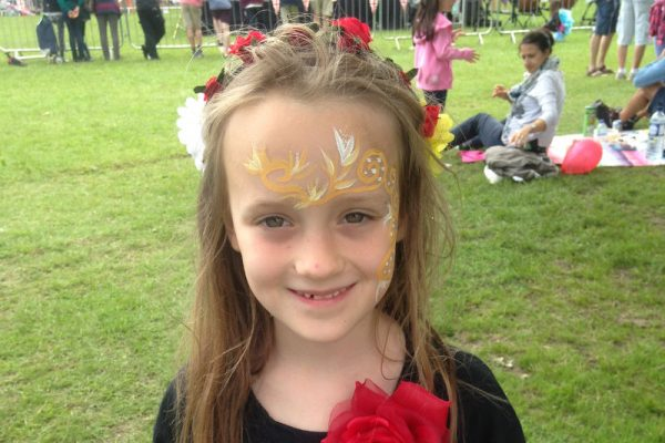 Pitshanger Party in the Park 2016 - flowers and face-paint